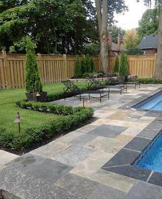 Interlocking landscape stones beatiful landscape Northeastern swimming pool distributors inc